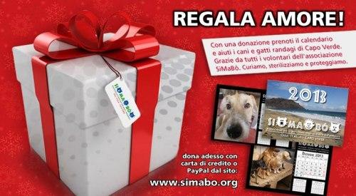 calendario con cani e gatti randagi di Capo Verde