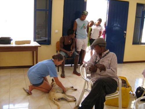 Tutti assistono alla visita di Turquim: il padrone, i bimbi del villaggio, gli anziani. La presenza dei veterinari di Si Ma Bô è un evento per l'intera comunità.